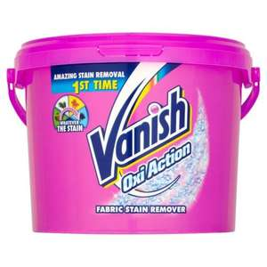 Vanish Oxi Action Powder Fabric Stain Remover 2.4 kg £5 @ B&Q instore