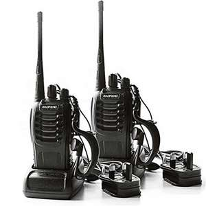 2 x BaoFeng 400-470 MHz Two Way Radio Rechargeable Long Range £22.99 delivered @ Amazon(Sold by nestling store and Fulfilled b y Amazon)