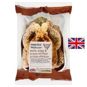Waitrose Pork, Sage & Onion Stuffed Chicken was £6 now £4.50 or £3.60 with PYO Offers (1.44kg)