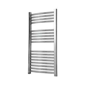 Flomasta Curved chrome towel radiator 90x45cm 767BTU, £27.99 Screwfix click & collect Only