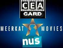 3 for 1 cinema using CEA Card with Meerkat movies and NUS card @ participating cinemas