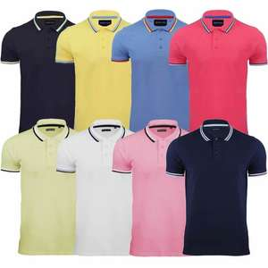 Mens Polo T-Shirt Brave Soul Cotton Short Sleeve Top Tipped New S M L XL XXL £4.95 delivered EBAY stylistic-clothing-co