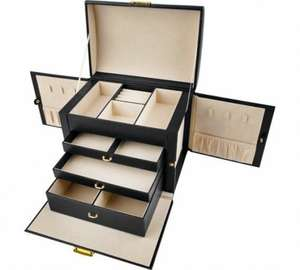 Large Three Drawer Black Jewellery Box - £17.49 @ Argos (Free C&C)