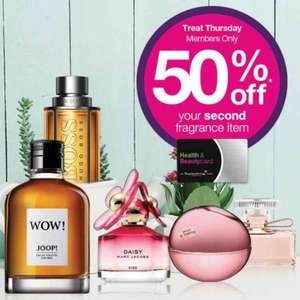 Superdrug buy one fragrance get second half price from £6