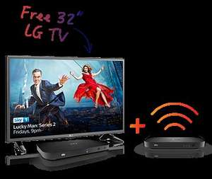 "Free LG TV 32""or £100 Voucher on any Sky TV Bundle - £396 Contract cost"
