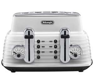 De'Longhi Scultura white 4 slot toaster only £38.99 at Waitrose Kitchen