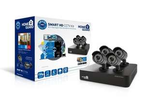 HomeGuard Smart HD 720p 8 Channel 4 Camera (Analgue) 1TB CCTV Kit free del. - £137.70 with newsletter sign-up @ Cleverboxes