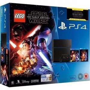 PS4 500gb slim console Lego Star Wars/TFA bundle £189 at Sainsbury's