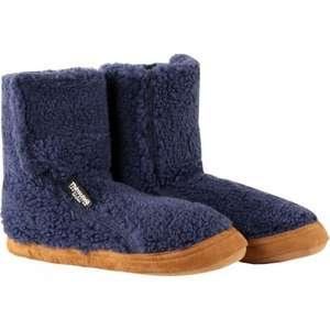 Camping Slippers - £7.50 Furry Pile Fleece Sock with Dots (was £15) - Cotswold outdoor - Free c&c and Standard UK delivery