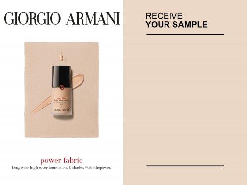 Free sample of Giorgio Armani power fabric foundation