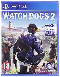Watch Dogs 2 (PS4) £24 delivered Sold by cheapgamesUK and Fulfilled by Amazon
