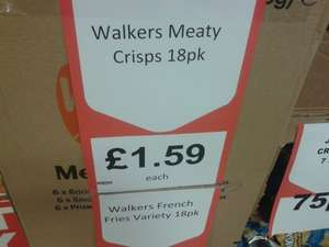 Walkers Meaty Crisps/French Fries 18 Pack £1.59 @ Heron