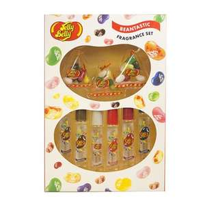 Jelly Belly Eau De Toilette 48ml Gift Set - Six roller-ball 8ml EDTs with 3 bags of Jelly Belly Jelly Beans now £5  @ The Fragrance Shop (Poss £4.25 with code)