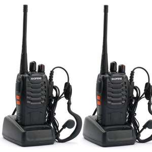 2 x Rechargeable Two Way Radios UHF 400-470MHz 16CH With Earpieces £20.98 delivered Sold by QJ trade and Fulfilled by Amazon