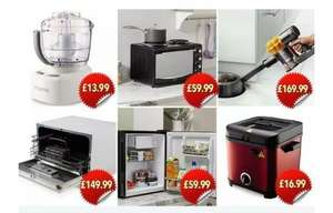 Aldi space savers/compact range including a Table Top Fridge or Mini oven with hob for £59.99