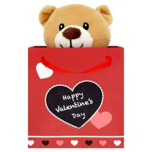 Morrisons Valentines Bear with Gift Bag Was £4 Now 75p @ Morrisons Online and In store