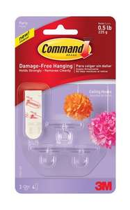 Command Party Ceiling Hooks - Clear £2.99 @ Amazon (Add On / Minimum £20 Spend)