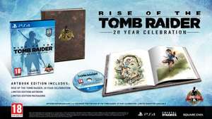 Rise of the Tomb Raider: 20 Year Celebration on Playstation 4 (PS4) with Artbook - £22.99 (used) at GAME