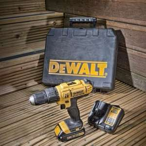 DeWalt Cordless 18V Combi Drill + 1x1.3Ah Li-Ion + 14 pcs Torsion Impact Set - £70 delivered @ B&Q