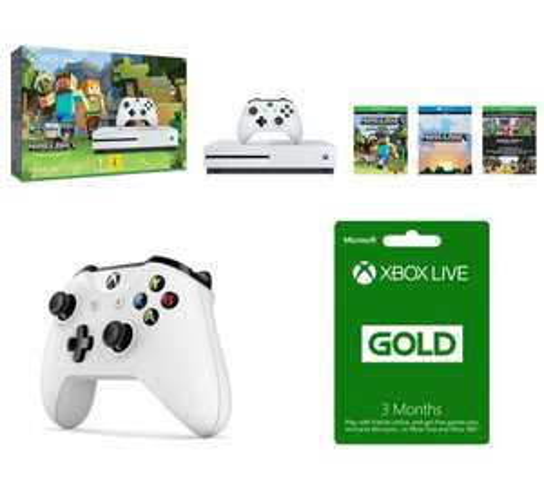 MICROSOFT Xbox One S with Minecraft Favourites & Xbox Wireless Controller Bundle £199.99 @ Currys