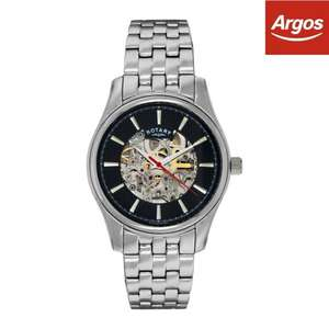 Rotary refurbished automatic skeleton watch. Free PP £48.99 @ Argos ebay shop