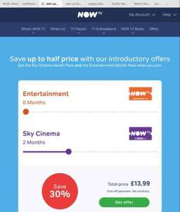 Now Tv 2 month cinema pass £13.99 + £12.00 TCB  new customers add a box from Argos or currys @ £19.99 with 4 months Cinema and it works out £3.66 a month for 6 months