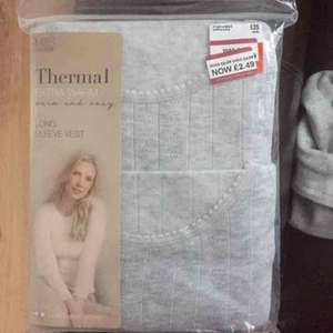 Ladies M&S Thermal Long Sleeve Vest 2 Pack £2.49 instore @ M&S