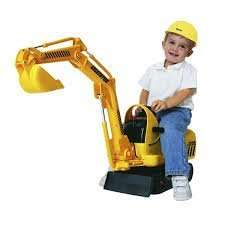 childrens sit on electric digger £9.99 instore @ B&M