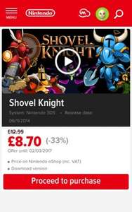 Shovel Knight | Nintendo download software | Games | Nintendo 3DS/WiiU - £8.70