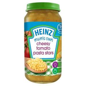 Heinz baby food. 10 jars for £5 at Morrisons