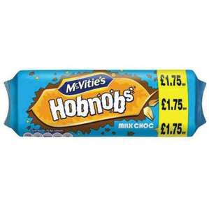 MCVITIE'S HOBNOBS MILK CHOCOLATE poundstretcher for 10p