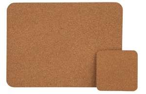 HOME Cork Set of 4 Placemats and Coasters £3.99 Argos (Free C&C)