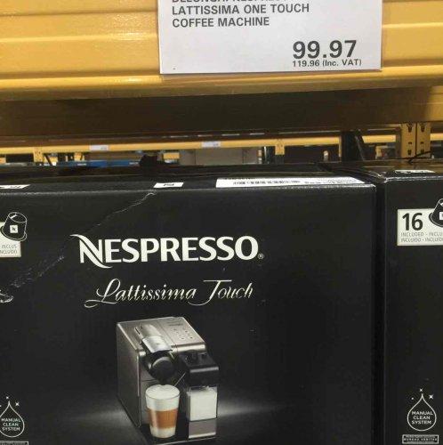 Nespresso Latissima touch - Costco - £119.96 instore