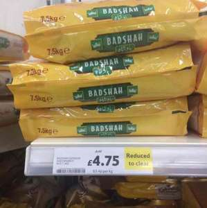 Badshah basmati rice 7.5kg bag reduced to 4.75 Tesco in store