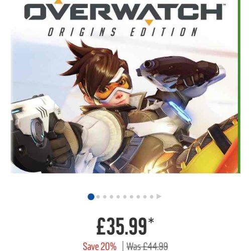Overwatch Origins Edition for XBox 1 @ £35.99 Argos