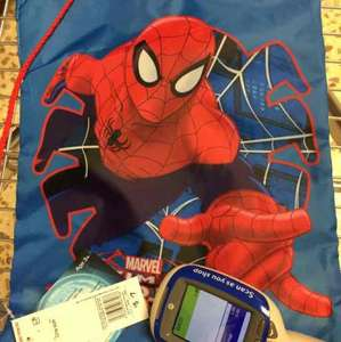 Spider Man gym/swimming bag £1.00 instore @ Tesco