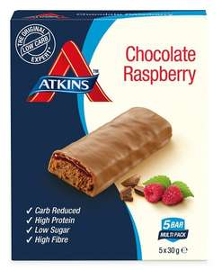 Atkins Advantage Bars - Chocolate Raspberry - 5 x 30g - £1.50 (In Store) @ Superdrug