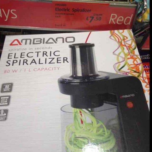Ambiano Electric Spiralizer 7.50 Aldi Selly Oak store
