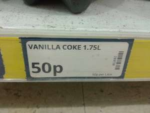 1.75L Bottle of Vanilla Coca Cola 50p @ Poundstretcher