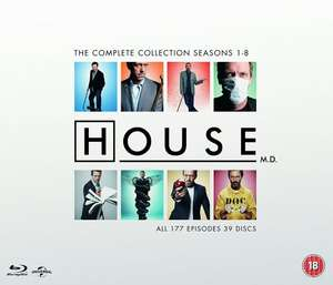 House: Complete Seasons 1-8 Blu-Ray Box Set £32.99 including free delivery @ zavvi
