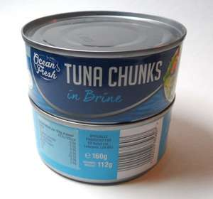 2 x 160g Cans of Ocean Fresh Tuna Chunks in Brine for £1 @ B&M