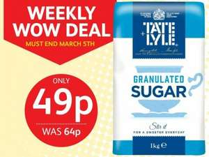 Tate & Lyle Granulated Sugar 1kg ONLY 49p @ Poundstretcher
