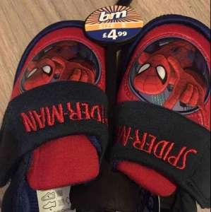 Spider-Man slippers scanning at £1! was £4.99 at B & M