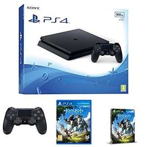 PS4 Slim 500GB with additional Dualshock V2 controller and Horizon Zero Dawn including Steelbook £229.99 (pre order) @ Amazon