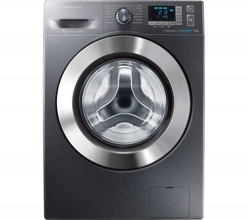SAMSUNG 9kg Ecobubble WF90F5E5U4X Washing Machine - Graphite + 5yr Warranty, £374 (With code) @ Currys