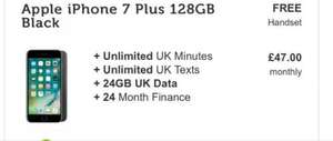 iPhone 7 plus 128gb / 24gb data no upfront cost - £47pm - £1128 at mobilephonesdirect