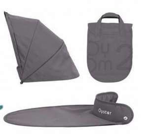 Babystyle Oyster 2 Max Gem Carrycot Colour Pack £12.95 / £17.90 delivered - Slate Grey Online4baby
