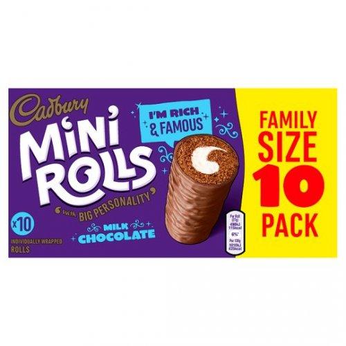 Cadbury chocolate mini rolls 10pk for 69p at Tesco (starts 28th)