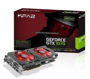 KFA2 Nvidia GeForce GTX1070 EX 8GB GDDR5 Graphics Card £349.00 Delivered from Amazon (Sold by PowerCentral)