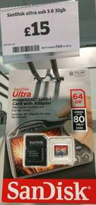 64gb SanDisk ultra micro sd - in store sainsburys - £15